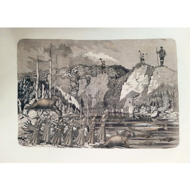 obrázek Adolf Hoffmeister - Německé turistky na šumavském jezeře