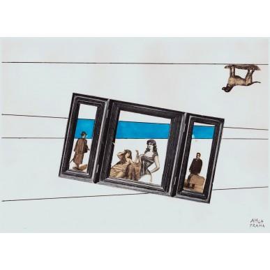 obrázek Adolf Hoffmeister - Triptych a pes