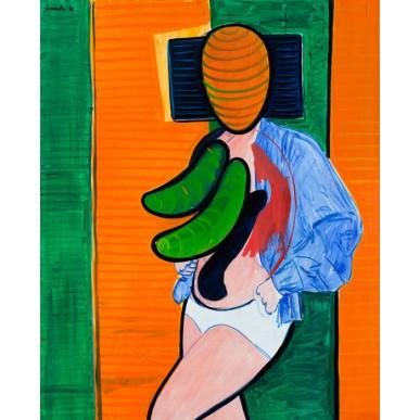 obrázek Alfréd Symůnek - Dáma v modrém