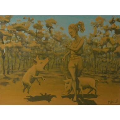 obrázek MICL - Dívka a dvě prasata